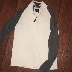Nautica men sweater white and gray